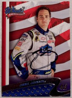 JIMMIE JOHNSON AUTOGRAPHED 2007 WHEELS AMERICAN THUNDER NASCAR CARD