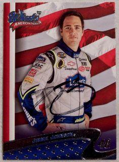 JIMMIE JOHNSON AUTOGRAPHED 2007 WHEELS AMERICAN THUNDER NASCAR CARD