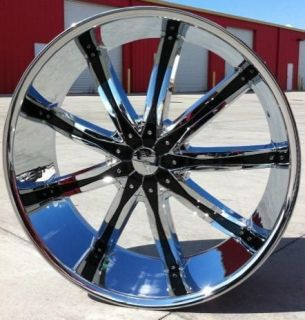 24 inch Wheels Rims Chrome DW29 6x139 7 Escalade 2007 2008 2009 2010