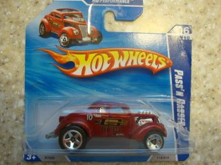 Hot Wheels Passin Gasser Red 2010 Short Card VHTF