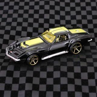 2008 Hot Wheels Mystery Car 1969 Chevy Chevrolet Black Yellow Corvette