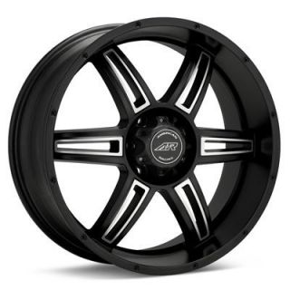 20 inch Nissan Truck SUV Black Rims Wheels 6 Lug