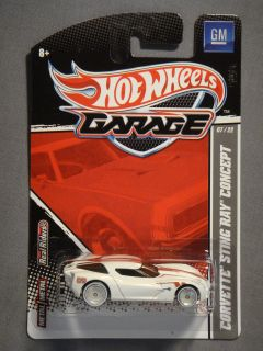HOT WHEELS GARAGE REAL RIDERS GM CORVETTE STING RAY CONCEPT #7 DIECAST