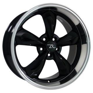 Inch Black Mustang Bullitt Wheels 20 x8 5 20x10 Deep Dish Rims Bullet