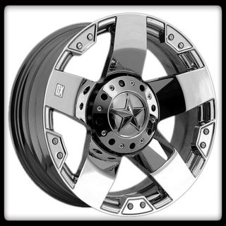 17 X 9 XD ROCKSTAR XD775 CHROME RIMS TOYO LT265 70 17 OPEN COUNTRY A T