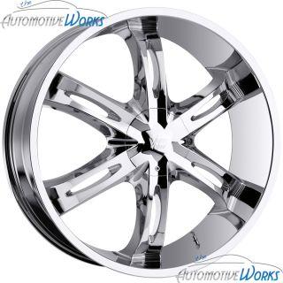 Hollywood 6 6x139 7 6x5 5 20mm Chrome Wheels Rims inch 24