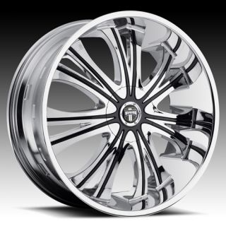 Dub Mamba Wheel Set 22x9 Chrome rwd 5 6 Lug Rims 22inch Wheels