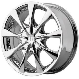 15 inch 15x7 Helo HE827 Chrome Wheels Rims 4x100 4 Lug