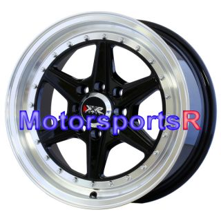 XXR 501 Black Machine Lip Rims Wheels 4x100 03 04 05 06 07 Scion xA xB