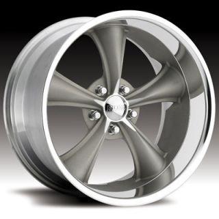 Boss Motorsports Style 338 Wheels Rims 20x8 5 5x5 14mm Gray