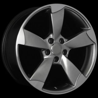 Hyper Black Machined Face Wheels Rims Fit Audi A4 A5 A6 A7 A8