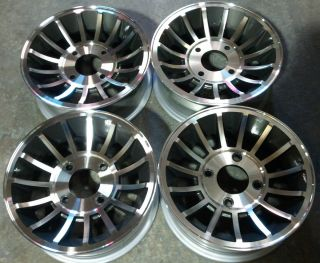 14x5 5 Cyclone II Turbine wheels VW Volkswagen Beetle Bug Rims 4x130