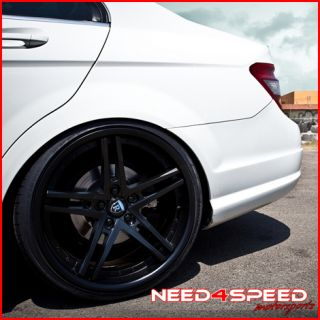 E350 E550 Coupe Sedan Rohana RC5 Black Staggered Wheels Rims