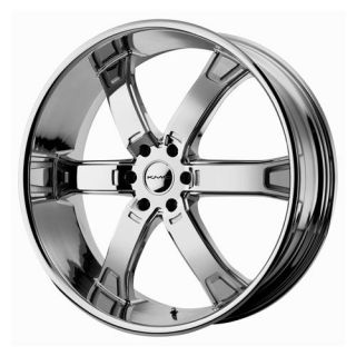 KMC Brodie Wheel Set 20x9 Chrome rwd 6 Lug Vehicles 20inch Rims