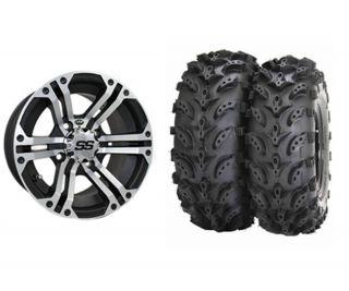 ITP SS212 14 Machined ATV Wheels Swamp Lite 28 Tires Honda IRS