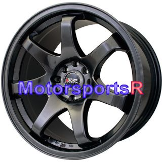 17 8 9 XXR 522 Chromium Black Rims Wheels Staggered Concave 89 Nissan