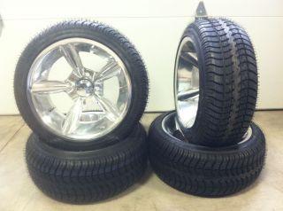 Fairway Alloys Bullet Wheels 14 205x30 14 Golf Tires 4 EZGO Club Car