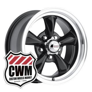 15x7 Black Wheels Rims 5x4 75 Lug Pattern for Chevelle Malibu 1964