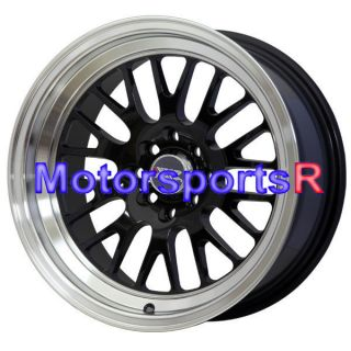 15 15x8 XXR 531 Black Wheels Rims Deep Dish 4x100 Stance 98 Honda