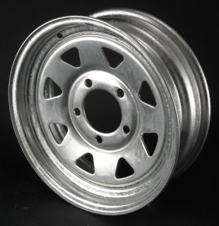 13 GALVANIZED BOAT TRAILER RIM CAMPER WHEEL TIRE 5 HOLE 4 5 PILOT HOLE