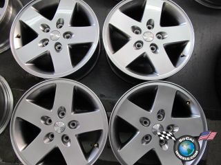 Four 07 11 Jeep Wrangler Factory 17 Wheels Rims 9074 Hyper Silver