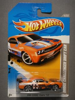 HOT WHEELS HW CODE CARS 12 DODGE CHALLENGER DRIFT CAR #4 DIECAST CAR