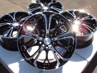 17 Effect Wheels Black Rims 5 Lugs Neon SRT Neon Scion TC XD Camry