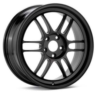 17 Enkei RPF1 Black Rims Wheels 17x8 45 5x114 3 SPEED3 Mazda3 TSX RSX