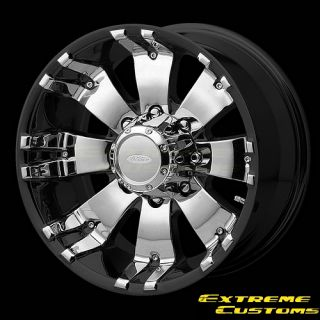DIAMO DI8 8 Karat Black Machined 8 Lugs Wheels Rims Free Lugs