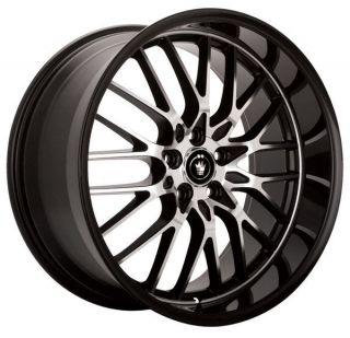 Lace 15x6.5 5x100/114.3 +40 Gloss Black w/ Machine Face Wheels Rims