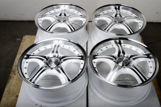 15 4x108 4x100 White Effect Wheels Integra Cabrio Golf Jetta Civic Xb