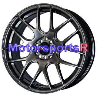 18 XXR 530 Chromium Black Concave Wheels Rims 03 04 06 08 09 Acura TL
