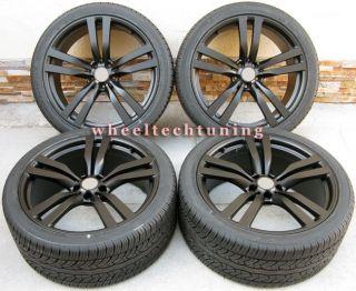 22 BMW X6 M STYLE X5 3 0 4 4 4 8 BLACK WHEELS AND TIRES BMW X5 X6 RIMS