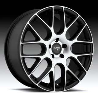 19 x9 5 Niche Circuit Machined Black 5 6 Lug Wheel Rims