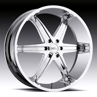 22 Wheels Rims Milanni Kool Whip 6 Chrome Dakota RAM Pick Up Durango