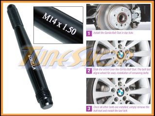 Gorilla 14x1 5 Wheels Rims Lug Nut Bolt Stud Guide Installation