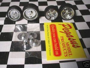 25 Pegasus Brake Calipers 19 23 Big Little For Model Car Wheels Chrome