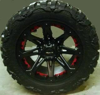 17 Wheels Rims Ballistic Jester Black with 33x12 50x17 Nitto Mud