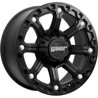 16 inch Gear Alloy Blackjack Black Wheel Rim 5x5 5x127 Jeep Wrangler