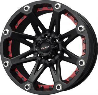 22 inch Ballistic Jester Black Wheels Rims 6x5 5 6x139 7 12 Nissan