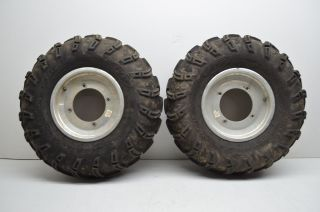 Predator 500 Douglas ITP Front Wheels Rims 23 Mud Lite Tires