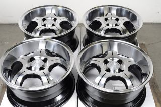 Polished Low Offset 25 4 Lug Wheels Miata Del Sol Integra Yaris Rims
