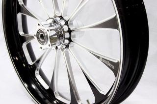 Black Billet 21 x 3 5 Front Wheel Harley Touring FL Softail Fatboy