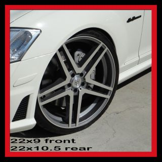 22 Wheels Tires Staggered Fits Mercedes S550 CL550 S63 S65 CL63 CL65