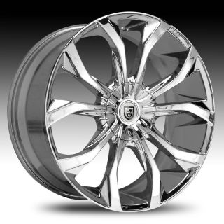 26 Lexani Lust Chrome Wheel Set Lust Rims Lexani 26 Rims for Cars