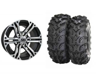 ITP SS212 Machined 14 UTV Wheels 27 Swamp Lite Tires for Polaris RZR