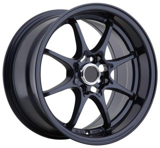 15 KONIG FLATOUT BLUE RIMS WHEELS 15x8 +25 4x100 MAZDA MIATA SCION XB