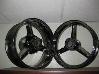 Suzuki GSXR 1000 Black Chrome Wheels 2001 2004 Exchange