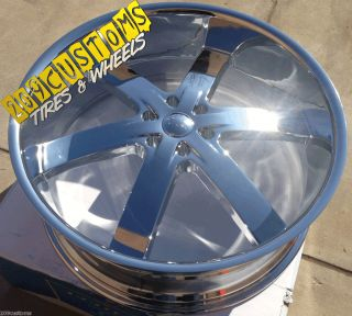 24 INCH WHEELS + TIRES U2W55 CHEVY TAHOE SILVERADO ESCALADE AVALANCHE
