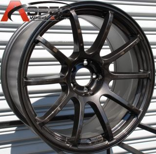 18x9 Rota G Force Wheels 5x114 3 Rims 25mm Fits Evolution 2004 Present